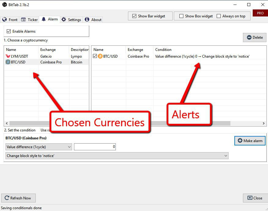 bitcoin price software